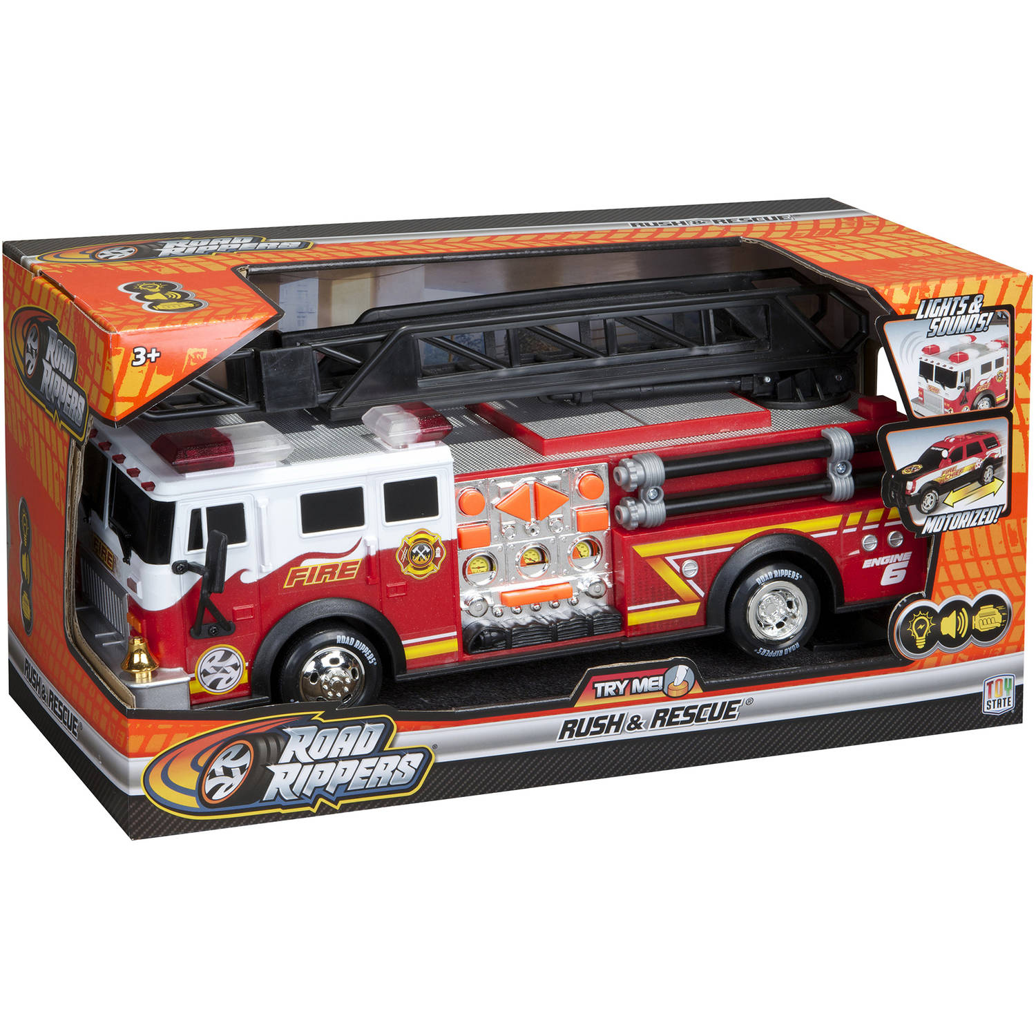 "Road Rippers 14"" Rush and Rescue Hook and Ladder Fire Truck"