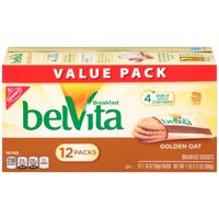 belVita Golden Oat Crunchy Breakfast Biscuits Value Pack, 1.16 Oz., 12 Count