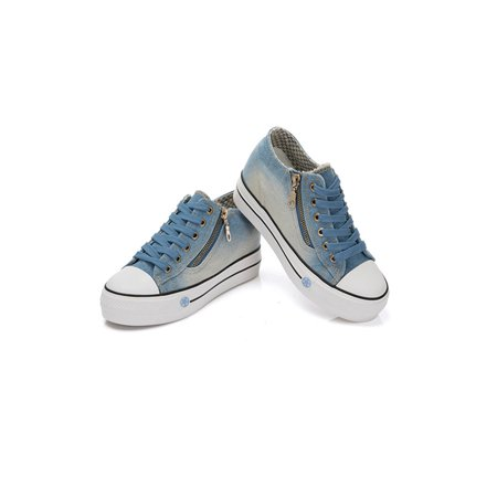 Daeful Women's Platform Hidden Wedge Loafers Sneakers zipper High Heels Casual Shoes