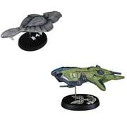 Dark Horse Halo Covenant Ship and Halo Wars UNSC Vulture AC-220 Gunship Replicas