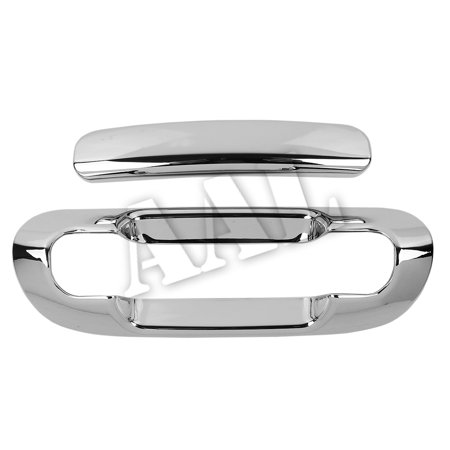 AAL Premium Chrome Tailgate Cover For 19992000 2001 2002 2003 2004 JEEP GRAND CHEROKEE trunk TAILGATE HANDLE NO KEYHOLE