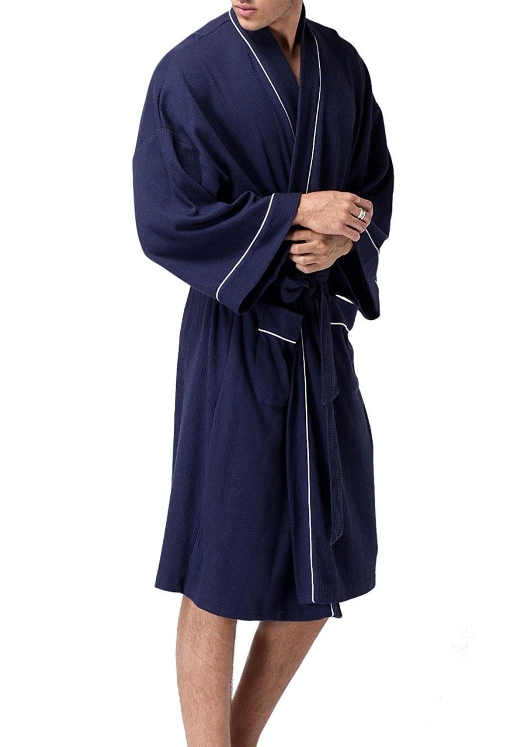 6d41a1fa43 MJEWELRYGIFT - Women Men Hotel Spa Waffle Kimono Soft Warm Long Hooded Robes  Sleepwear Bathrobe - Walmart.com