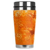 Mugzie brand 16-Ounce Stainless Steel Travel Mug with Insulated Wetsuit Cover - Fall Tie Dye