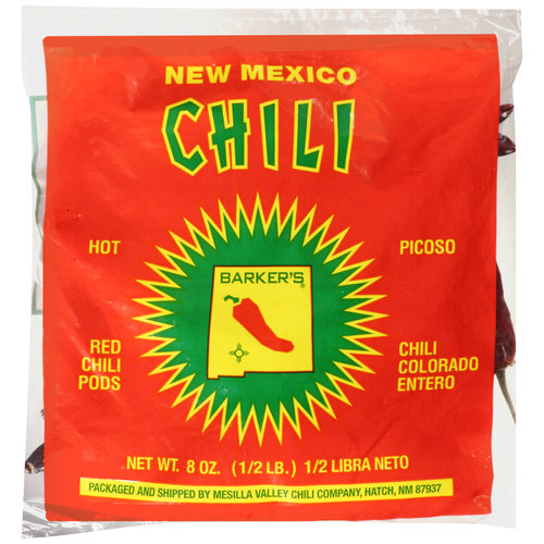 Barker's Hot Red Chili Pods, 8 oz