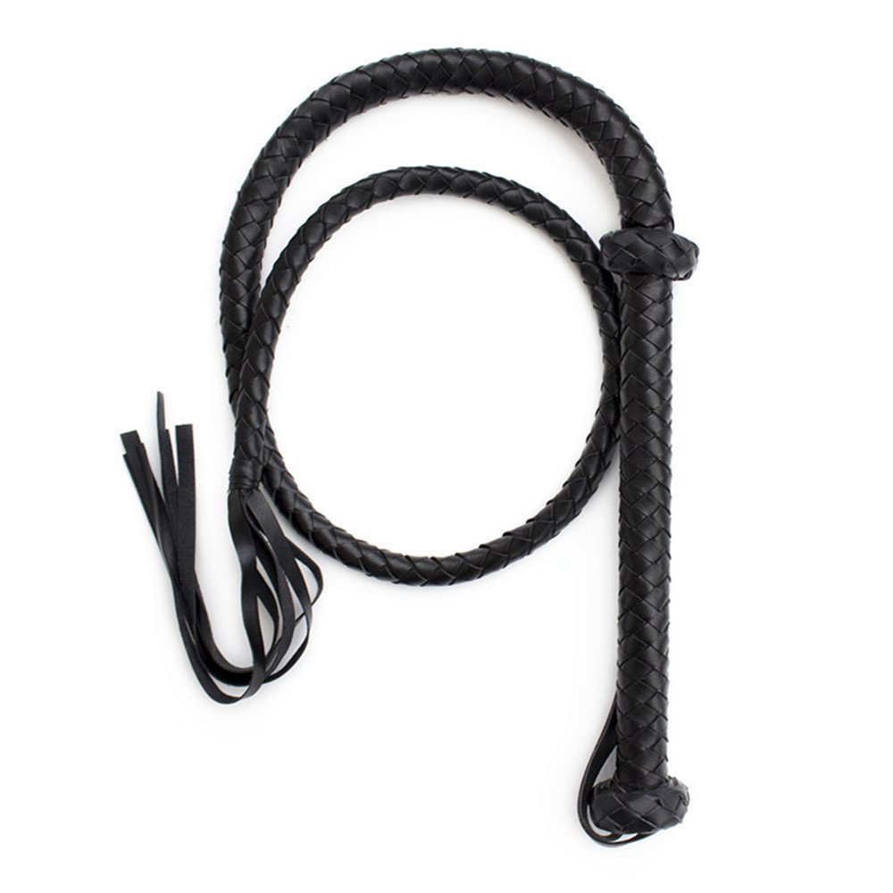 Sexual Whip Adult Toy Faux Leather Flogger Fetish S&M Role Play Flirt Tools Whip Black