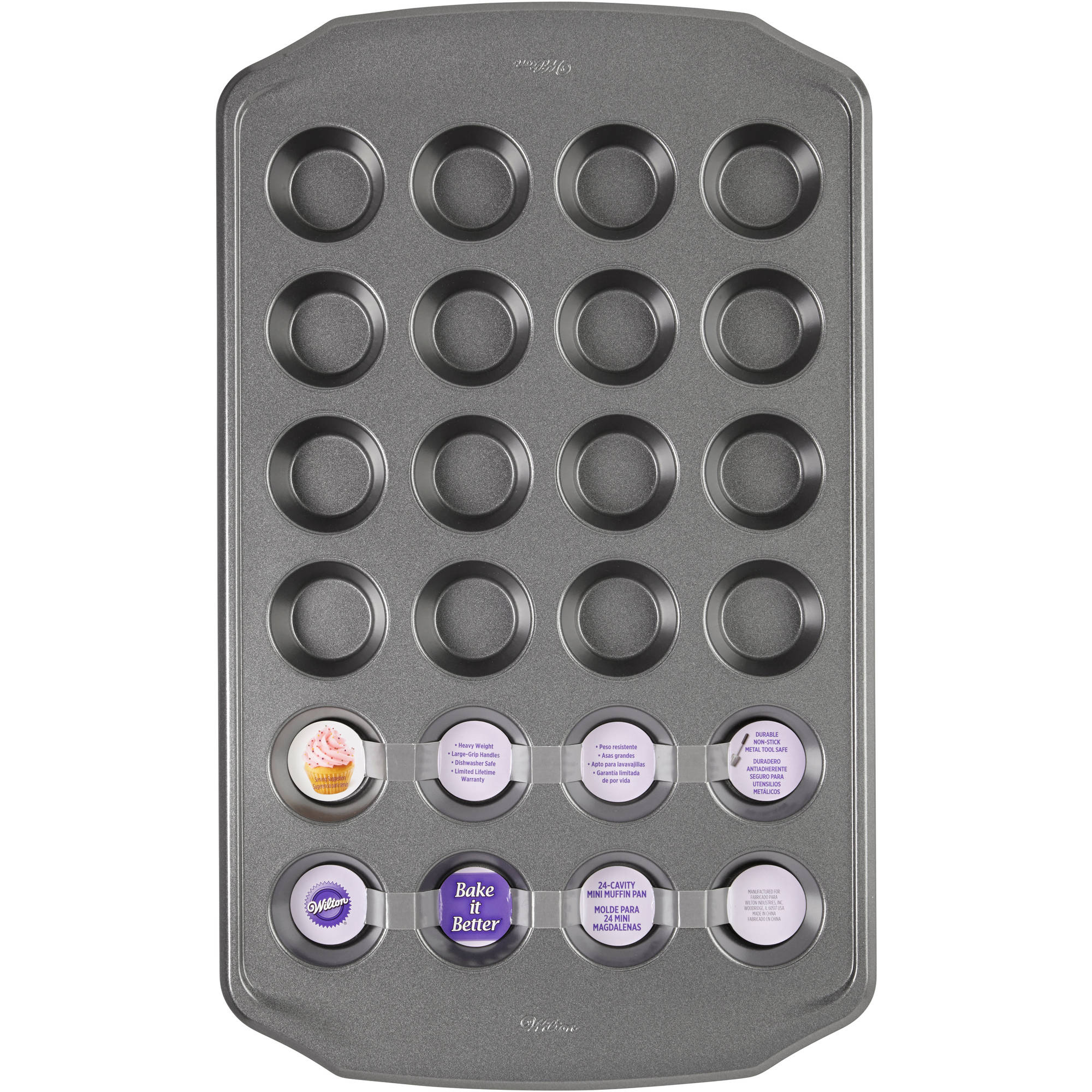 Wilton Bake It Better 24-Cavity Mini Muffin Pan
