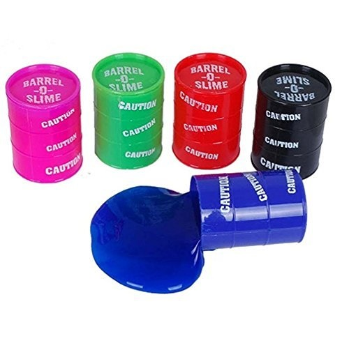 Colored Barrel Of Slime Six Different Colors Of Barrel of Slime,.Toy:BOS6 by Velocity Toys