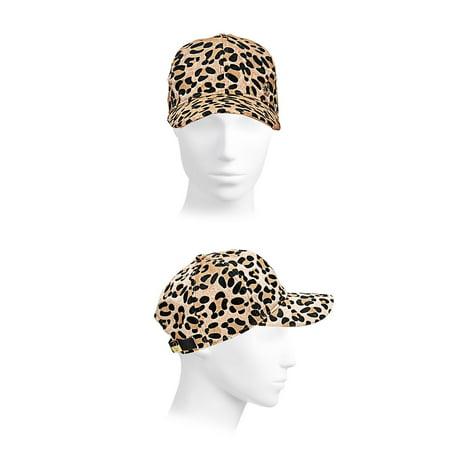 da26de9afdc Karl Lagerfeld Paris - Leopard Calf Hair  amp  Shearling Baseball Cap -  Walmart.com