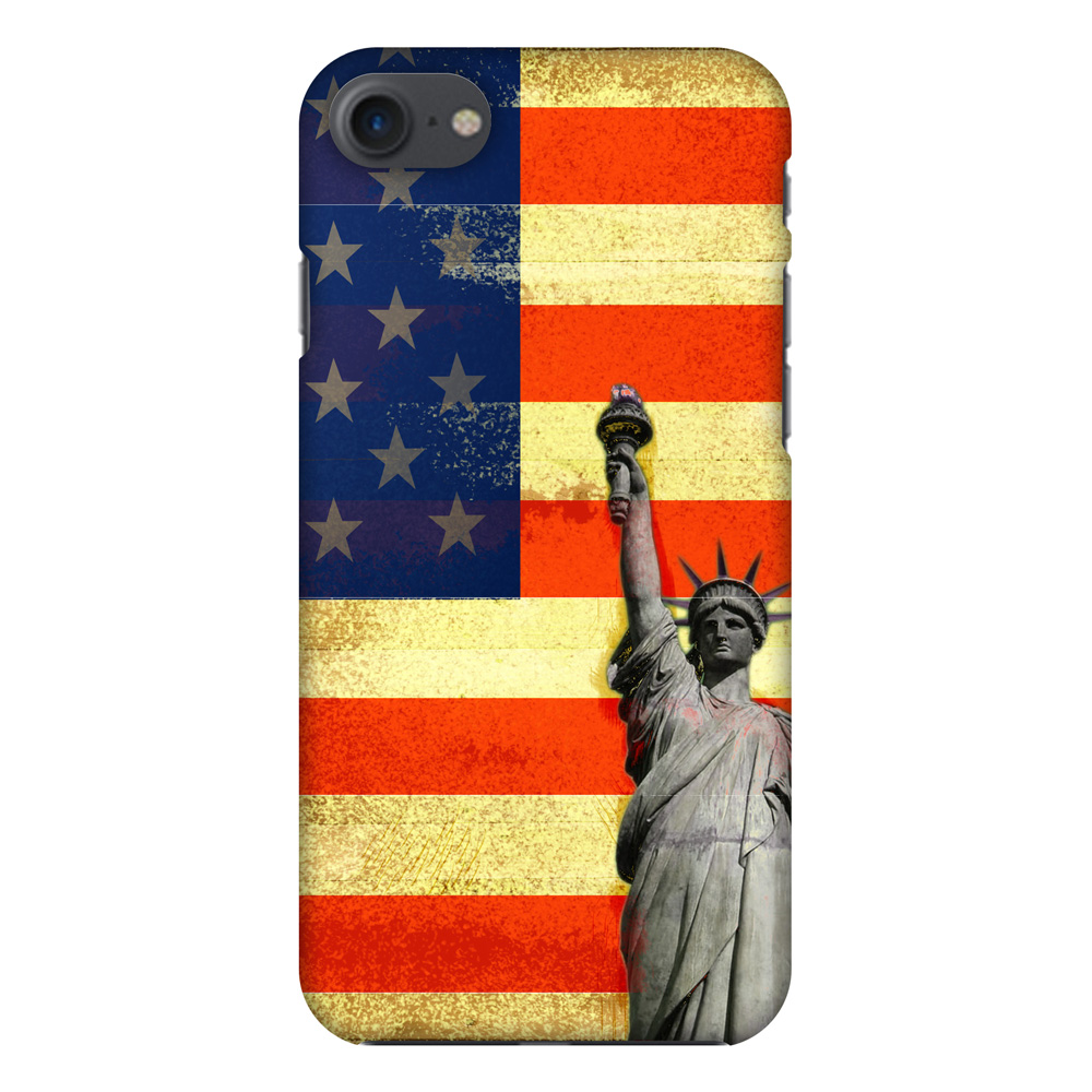 iPhone 7 Designer Case, Premium Handcrafted Printed Designer Hard ShockProof Case Back Cover for iPhone 7 - Rustic Liberty US Flag