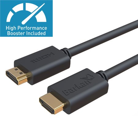 Barkan High speed Ultra HDMI cable 100ft with resolution booster, Ultra-High Definition 4K, 60Hz refresh rate, 18Gbps, 3D video, Ethernet, 24K gold plated, audio return