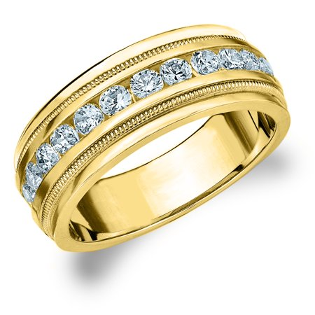cdabd5725d5 Eternity Wedding Bands - 1 CTTW Diamond Men s Wedding Band in 14K ...