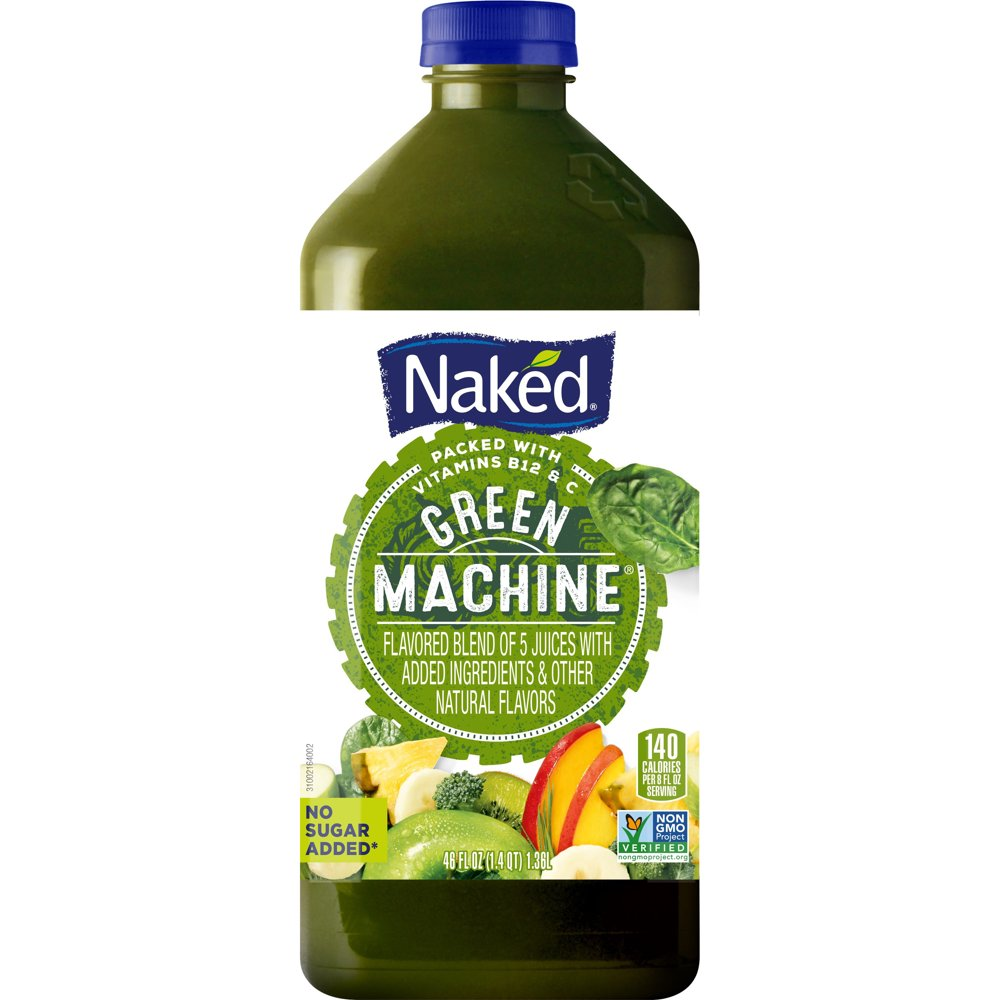 Naked Juice Boosted Smoothie, Green Machine, 32 oz Bottle