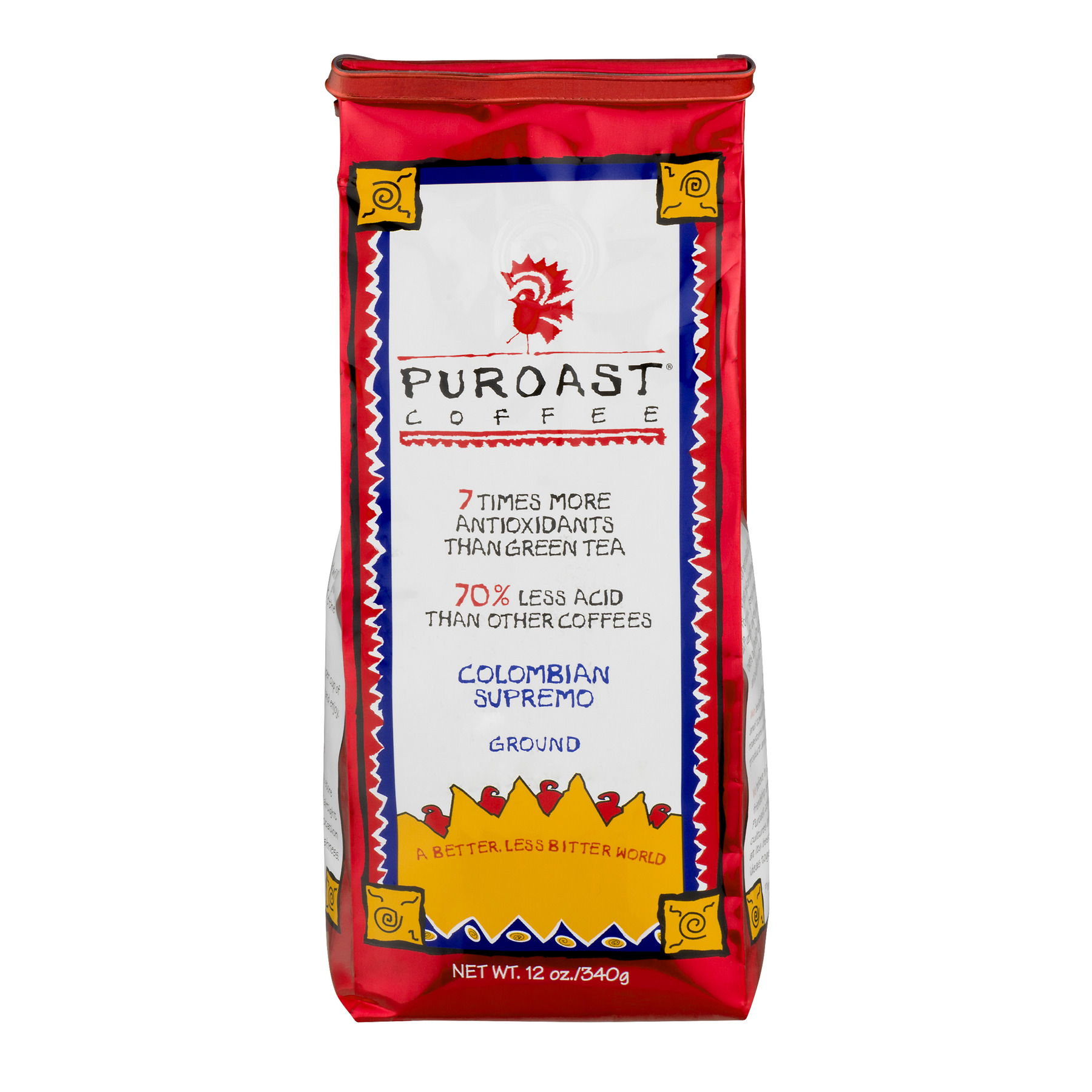 Puroast Coffee Ground Colombian Supremo, 12.0 OZ