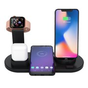 4-in-1 Wireless Charger, For IPhone/ For IWatch/ For Bluetooth Headset Desktop Charging Stand