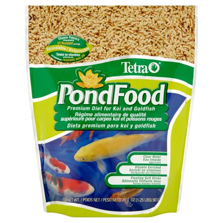 (2 pack) TetraPond Premium Diet Pond/Koi Fish Food, 1.25 (Best Food For Arowana Fish)