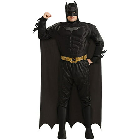 Batman Deluxe Muscle Chest Adult Halloween Costume, Plus (46-52)](Kanye West Batman Halloween)