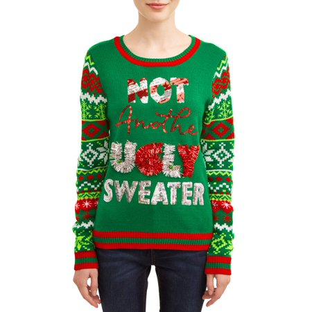 No Boundaries Juniors' Ugly Christmas Sweater ()