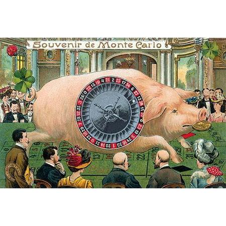 A Postcard Souvenir From A World Famous Gambling Resort Monte