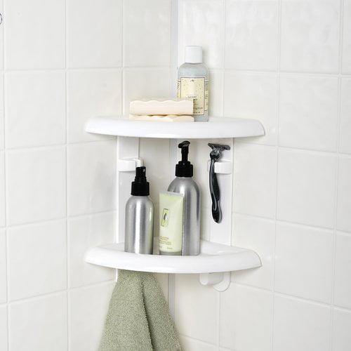 Mainstays 2 Shelf Corner Shower Caddy Walmart Com