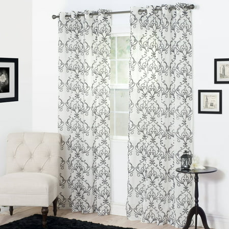 Tahoe Charcoal - Somerset Home Valencia Embroidered Curtain Panel