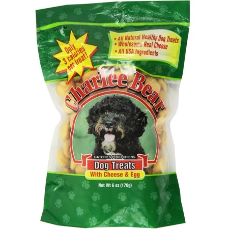 Charlee Bear Cheese & Egg Dog Treats, 6 Oz