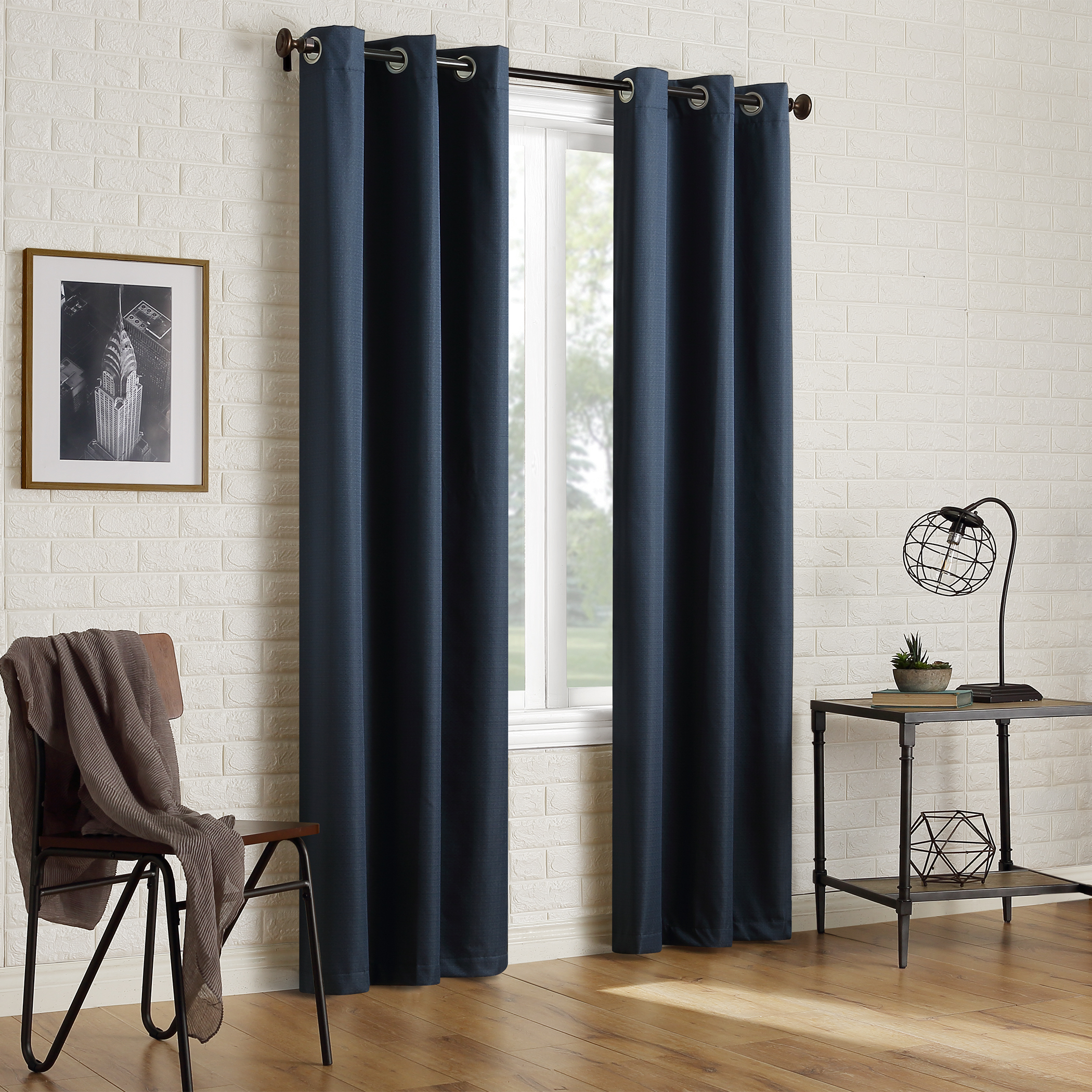 Sun Zero 2-pack Arlo Textured Thermal Insulated Blackout Grommet Curtain Panel Pair