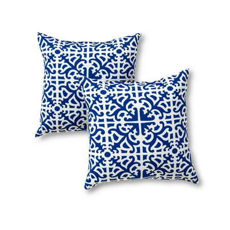 Lattice 17 x 17 in. Outdoor Accent Pillow, Set of 2](Outdoor Pillow Set)