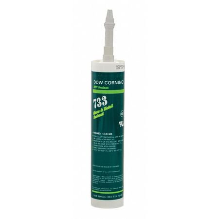 DOW CORNING 3138399 300mL Clear Silicone Elastomer Glass and Metal Sealant Dow Corning Silicone Rubber
