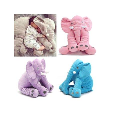 "16""x13"" Long Nose Elephant Plush Lumbar Cushion Soft Lovely Doll Sleep Pillow Baby Kids Children Gift Toys"