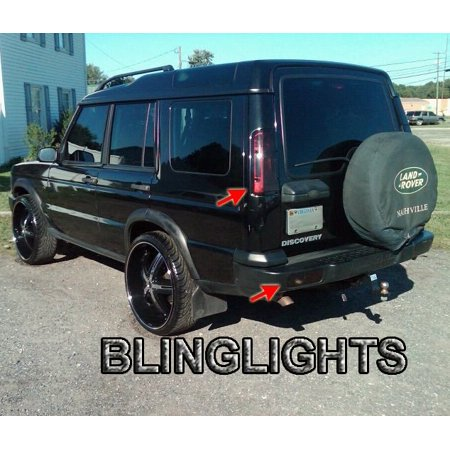 Land Rover Discovery Tinted Tail Lamp Light Overlay Kit Smoked Film