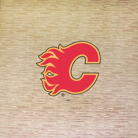 NHL Calgary Flames Portable Foam Puzzle Tailgate Floor Mat by