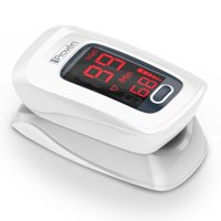 iProven OXI-27 - Finger Pulse Oximeter Heart Rate monitor Blood Oxygen Sensor Meter LED Display White