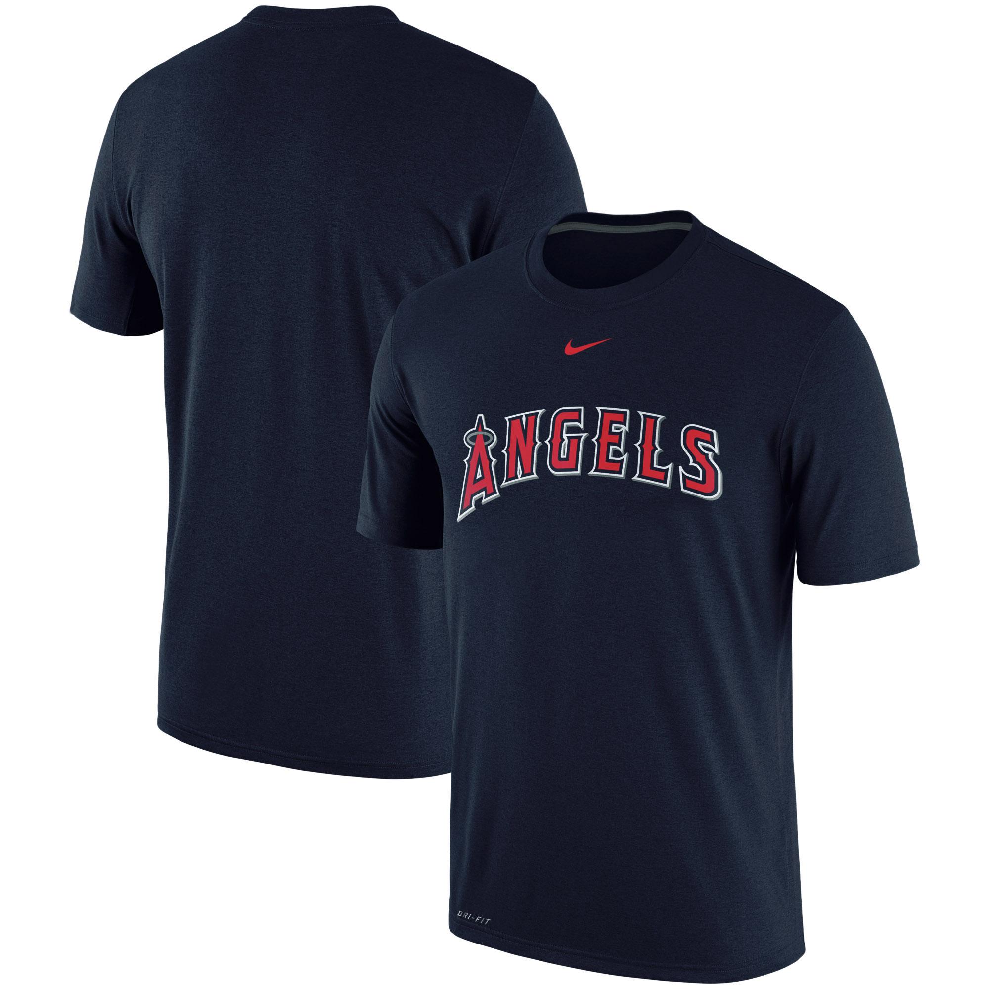 Los Angeles Angels Nike Batting Practice Logo Legend Performance T-Shirt - Navy