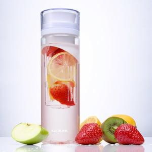 Cupture? White Fruit Infuser Water Bottle - Made of unbreakable Eastman Tritan(TM) - 24 oz