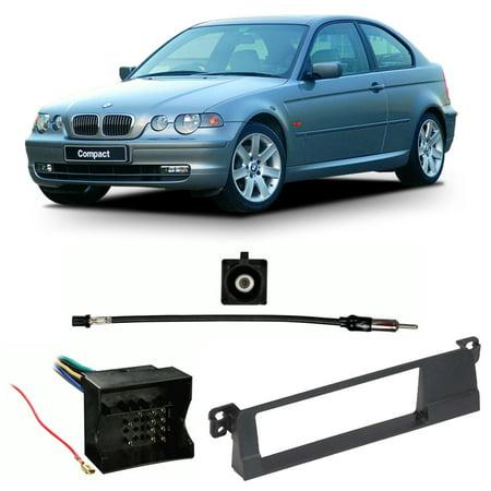 Bmw 3 Series Dash - Fits BMW 3 Series 2002-2005 Single DIN Stereo Harness Radio Install Dash Kit