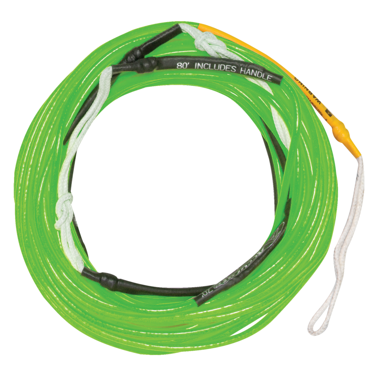 Hyperlite 2018 80 Ft Silicone A-Line (Neon Green) Wakeboard Rope by