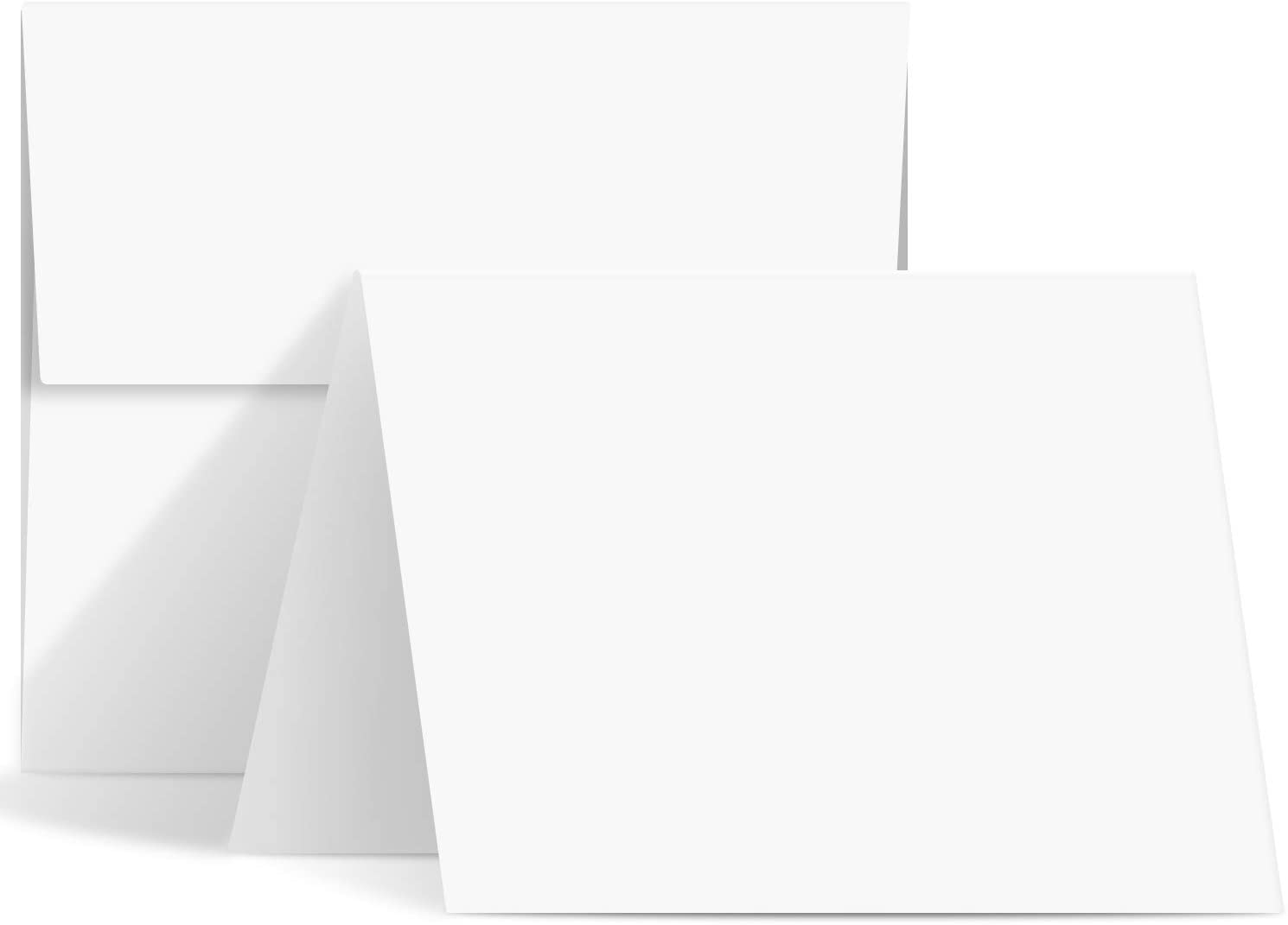 A2 Size Includes 40 Cards /& 40 Envelopes Rounded Edge Flat Cards Blank White 4 1//4 x 5 1//2