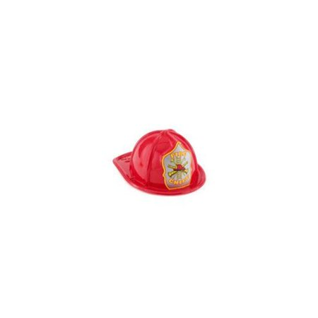 Child Size Red Plastic Fire Chief Hat - 8
