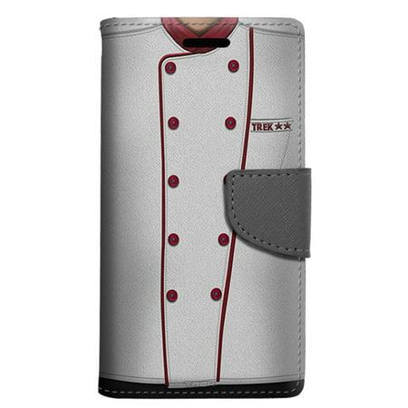 LG Aristo 2 Wallet Case - Chef Red Uniform Case