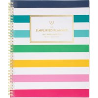 """Simplified for AT-A-GLANCE Academic Weekly/Monthly Planner, July Start, 9"""" x 11"""", Happy Stripe (ELW20-901A-21)"""
