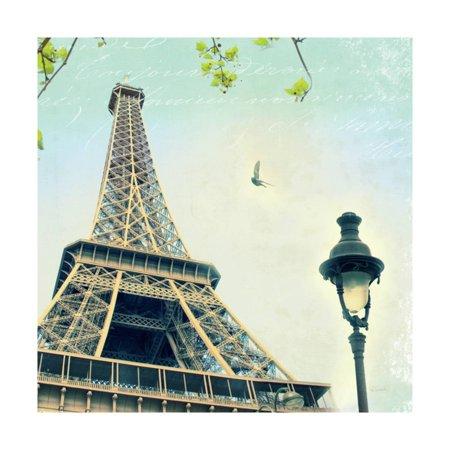 Paris Eiffel Letter Print Wall Art By Sue Schlabach
