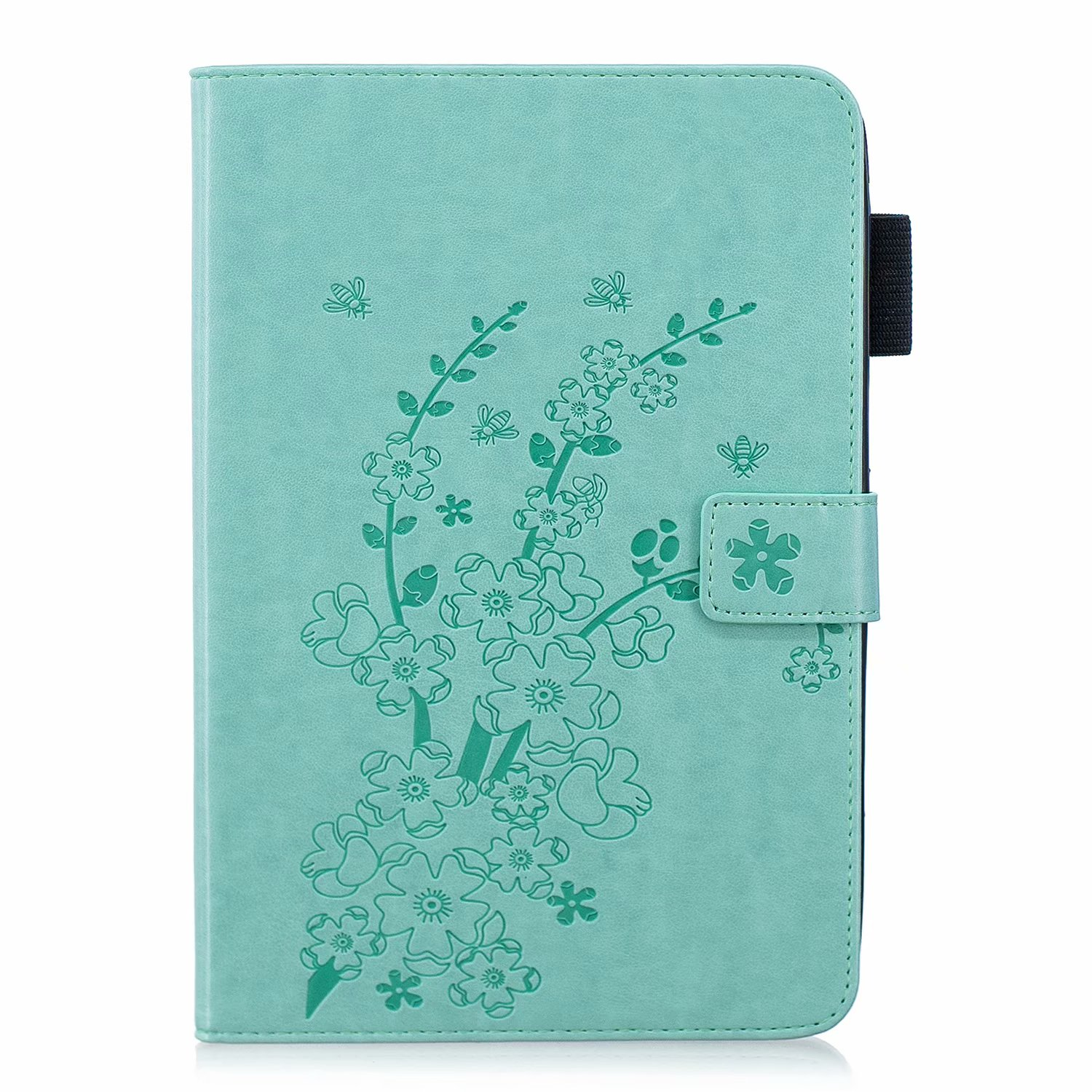 iPad mini Case, Dteck Slim Leather Magnetic Flip Folio Wallet Case Cover With Stylus Holder For iPad mini 1/2/3 7.9-inch Tablet green Plum Blossom