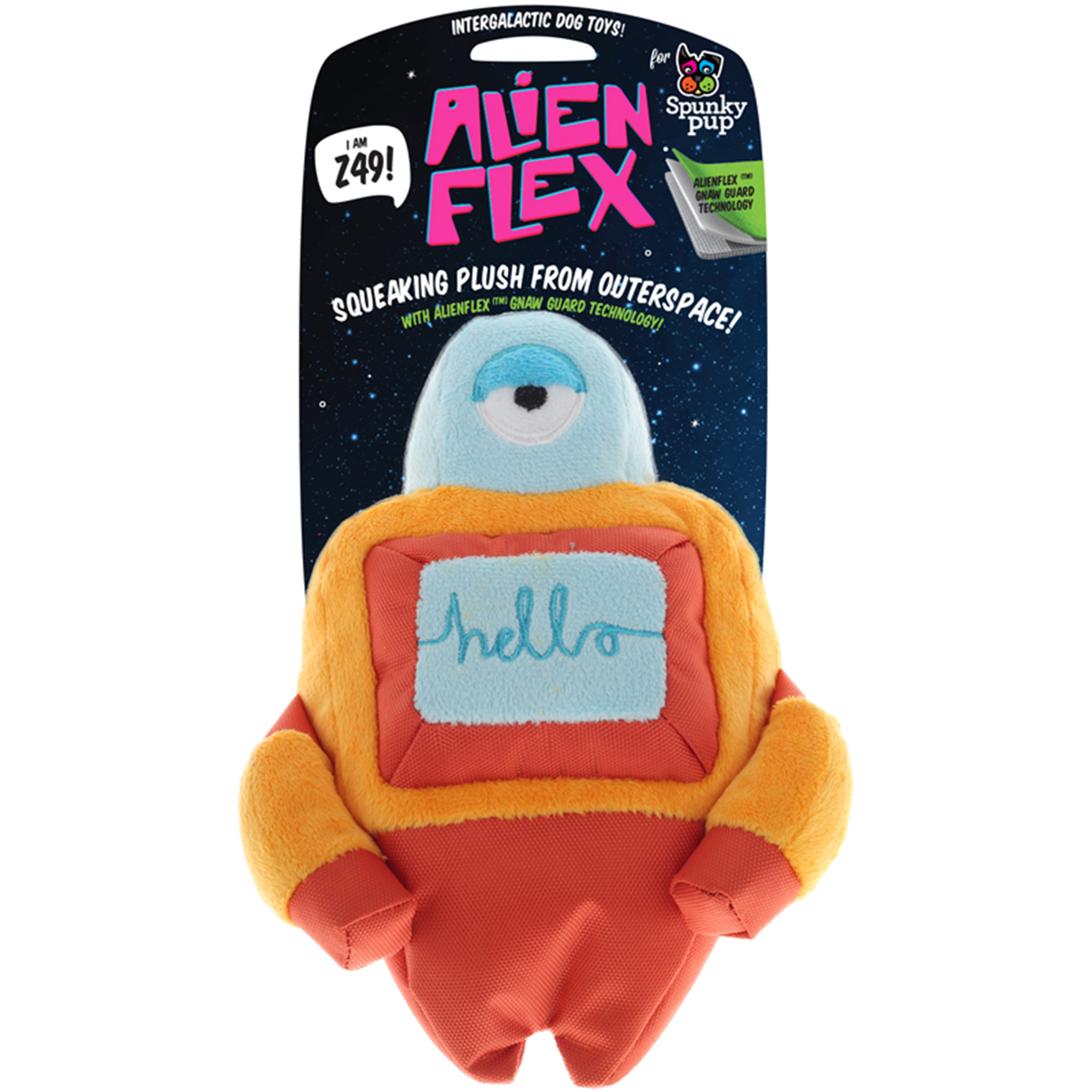 Spunky Pup Alien Flex Plush Toy-Z49