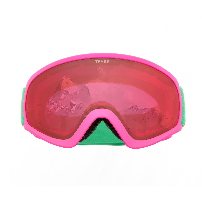Traverse Iris Youth Ski, Snowboard, and Snowmobile Goggles, Magenta & Jade