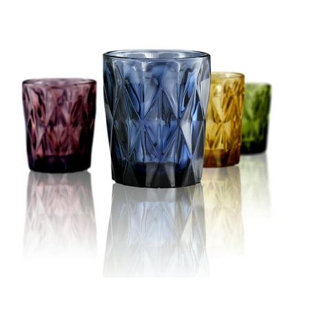 Blue Green Dichroic Glass - Artland Highgate Dof 10Oz, S/4 Assorted Color (Blue, Green, Purple, Amber), Gb