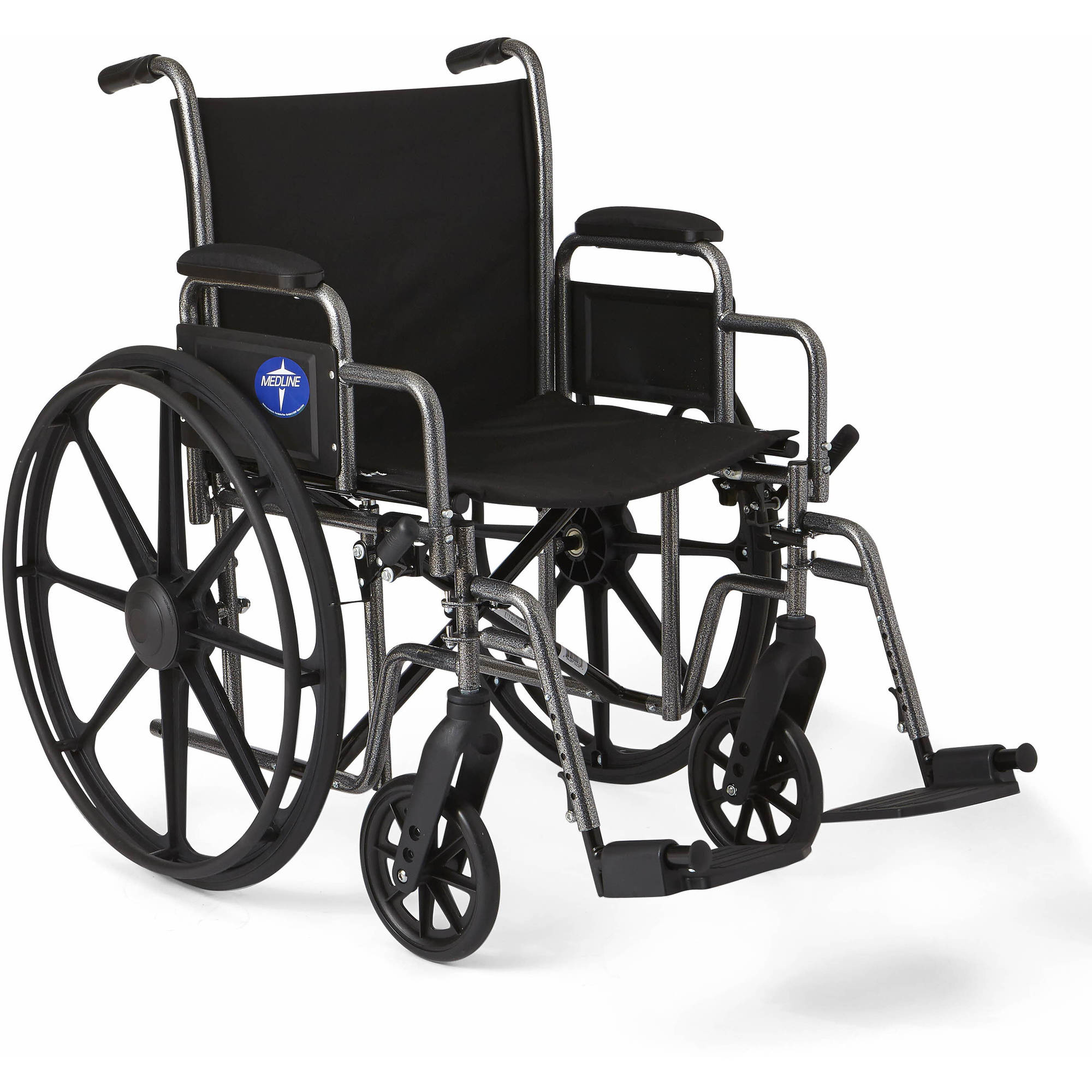 Medline K1 Basic Extra-Wide Wheelchair with Swing Away Footrests