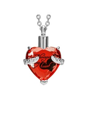 Cremation Memorial Keepsake Urn Pendant Necklace with Gift Box