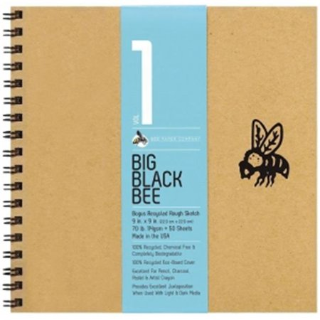 Bee Paper B202cb50 909 9 X 9 In  Big Black Bee Bogus Recycled Rough Sketch Paper Pad