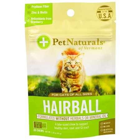 Pet Naturals of Vermont, Hairball, For Cats, 30 Chews, 1.59 oz (pack of 1)
