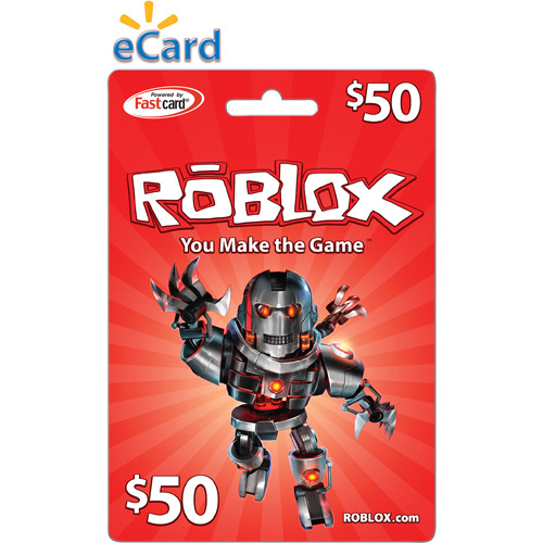 Roblox 50 Game Card Digital Download Walmartcom
